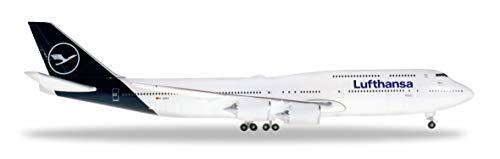 Herpa 531283 - Boeing 747-8, Intercontinental, biplano de Lufthansa, Alas, aeromodelismo, Aviador, construcción de maquetas, Modelos en Miniatura, Objeto de colección, Metal - Escala 1:500