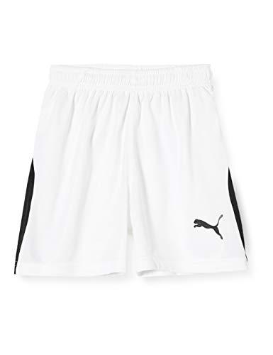PUMA Kinder LIGA Shorts, White Black, 116