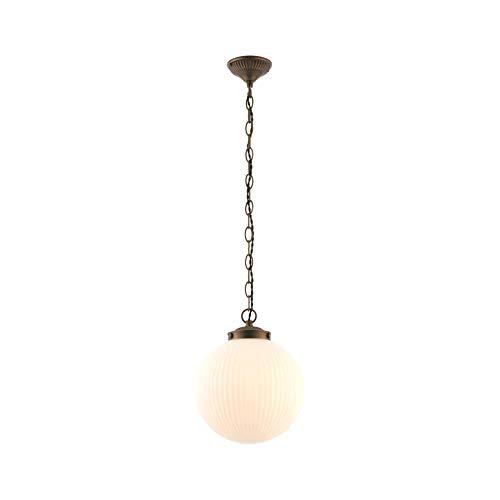 Endon - 1 Licht Indoor-Anh�nger Matt Opal Duplex Glas & Dark Antique Bronze-Platte 72460
