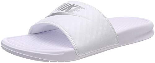 Nike Wmns Benassi JDI 343881-102, Scarpe da Spiaggia e Piscina Donna, Bianco (White, 40.5 EU