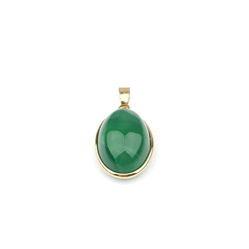 Colgante de ágata de piedra natural a rayas para hacer collares y joyas, 3,7 x 2 x 1,2 cm Ágata verde.
