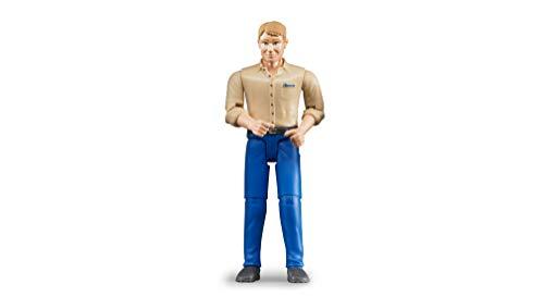 Bruder 60006 - Minifigur-bworld Mann mit hellem Hauttyp und blauer Hose