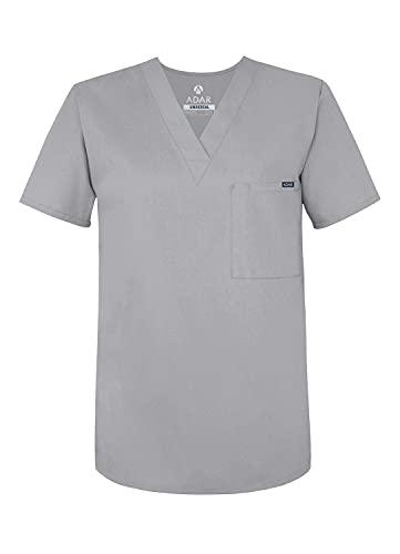 Adar Universal Abbigliamento Medico Unisex - Uniforme Infermiera Scollo a V - 6011 - Silver Gray - M