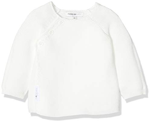 Noppies Unisex - Baby Strickjacke U Cardigan Knit Ls Pino, Einfarbig, Gr. 62, Weiß (White C001)
