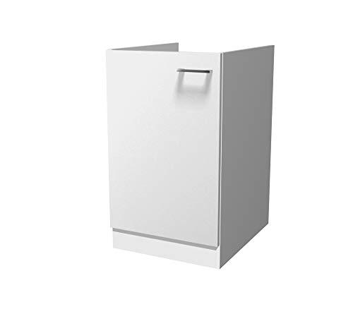 Flex-Well Spülenunterschrank LUCCA | Spülenschrank ohne Arbeitplatte | Breite 50 cm | Weiß