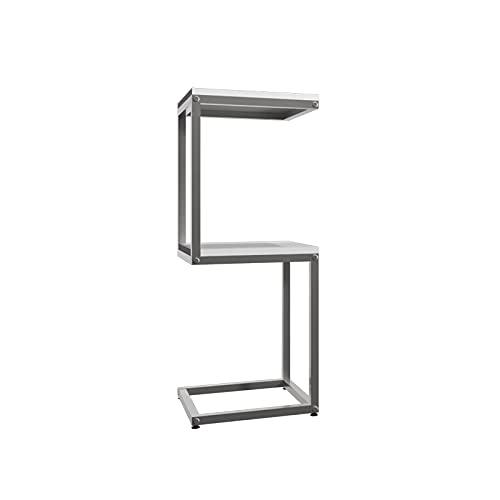 DAGCOT Soporte de exhibición de Metal de 2 Niveles, Bastidor de estantería de encimera de Almacenamiento para artículos comerciales comerciales o artículos para el hogar, 14 x 14 x 35 Pulgadas
