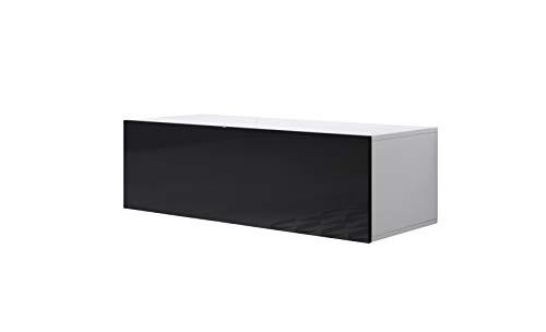 Mueble TV Modelo Luke H1 (100x30cm) Color Blanco y Negro