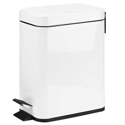 Cubo De Basura, Cubo De Basura con Pintura En Aerosol Antihuellas Mini con Pedal Antideslizante para Baño, Cocina, Oficina