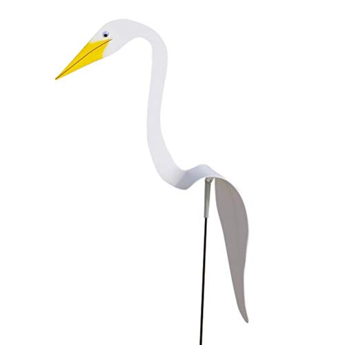 ExH Swirl Bird,Garden Breeze Bird Swirl Bird Dynamic Bird Slight Flamingo Wind Spinner Esculturas de Viento Decoraciones para Patio, Piscina Al Aire Libre, Playa