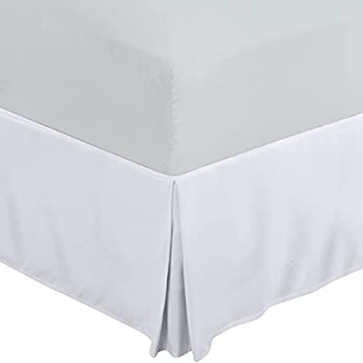 Utopia Bedding Bed Skirt - Soft Quadruple Pleated Dust Ruffle - Easy Fit with 16 Inch Tailored Drop - Hotel Quality, Shrinkage and Fade Resistant (Queen, White) by Utopia Bedding