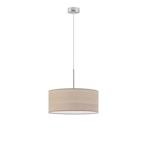 Lámpara de techo Sintra Eco fi, 40 cm, pantalla de roble blanqueado, marco de acero cepillado