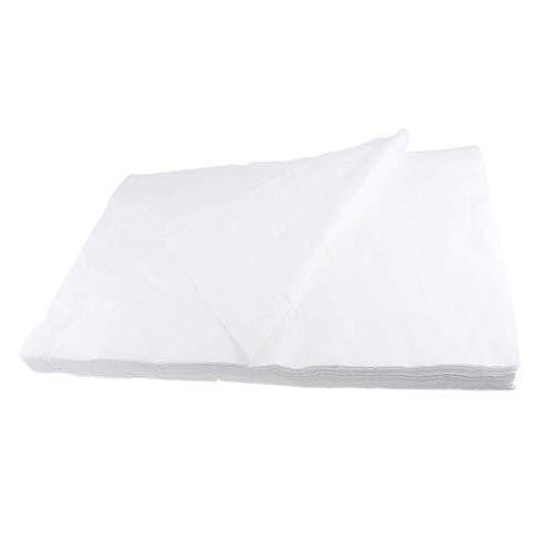 Tubayia 100 unidades desechables de almohadillas faciales para salón de spa, camilla de masaje.