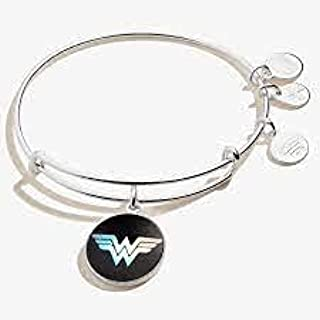 Alex and Ani Wonder Woman Holographic Logo Charm Bangle Bracelet