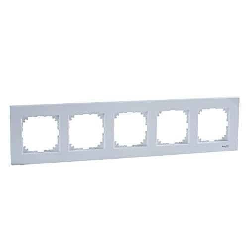 Marco de cubierta, M-Elegance, para 5 elementos, 1,2 x 37 x 9 centímetros, color blanco activo (referencia: MTN4050-3035)