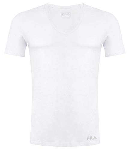 Fila FU5001, T-Shirt Uomo, White, XXL