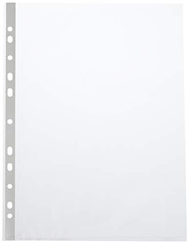 Hetzel 22457490 - Fundas perforadas transparentes (DIN A4, 100 unidades, polipropileno)