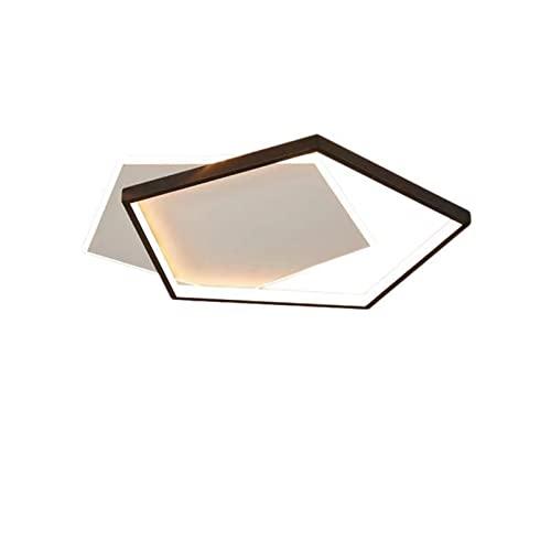 wenppran LED Nero Moderno Plafoniere Dimmerabile Metallo Illuminazione A Soffitto Piatto Camera da Letto Lampada da Soffitto per Soggiorno Sala Cucina Sala da Pranzo