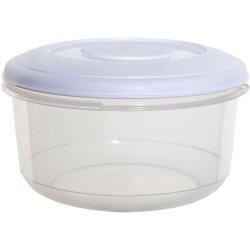 Whitefurze, rund, 1 l, Kunststoff, Food Saver Muffinbehälter Aufbewahrungsbox Gefrierschrank
