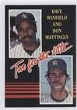 Amazoncom Dave Winfield Don Mattingly Baseball Card 1985