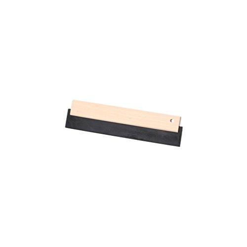 Sidamo - Raclette caoutchouc noir 180 x 75 mm avec monture bois - 11200159 - Sidamo