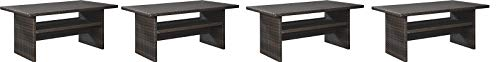 Signature Design by Ashley P455-625 Easy Isle Multi-Use Table, Dark Brown/Beige (Pack of 4)