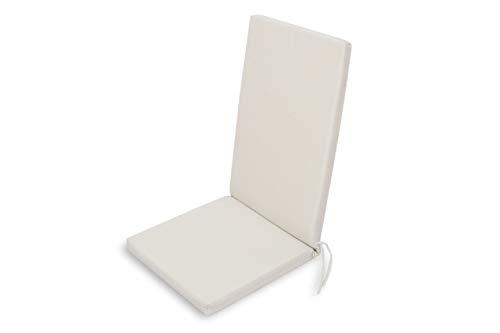 Chillvert KAN190 - Cojin Javea Posiciones Blanco Desenfundable 115x45x5 cm
