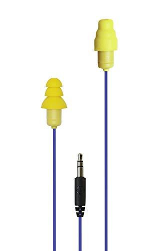 Plugfones Guardian In-Ear Earplug Earbud Hybrid - Noise Reduction In-Ear Headphones(Blue & Yellow)