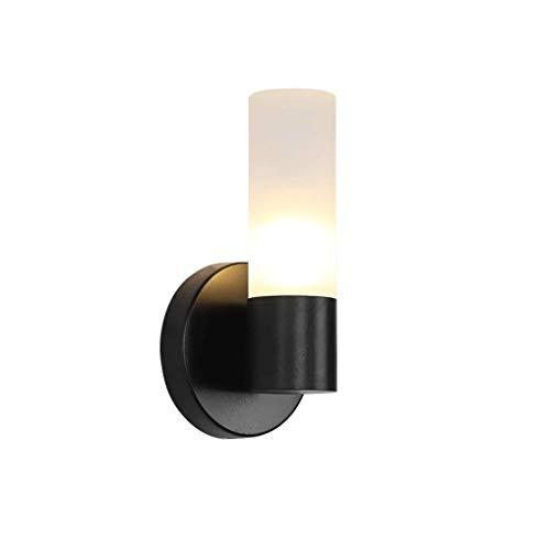 Luz de pared tyxl Moderno diseño simple Lámpara de pared Elegante sala de estar Creativa Lámpara de noche Lámpara de pasillo Lámpara de metal redondo Pantalla acrílica Aplique y barra táctil; 10CM LED