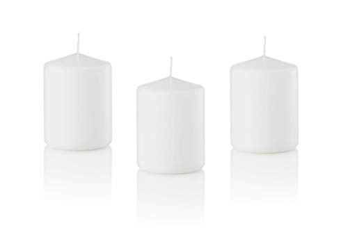 D'light Online 3 X 4 Pillar Candles Bulk Event Pack Round Unscented White Pillar Candles Qty 12 - (W - http://coolthings.us