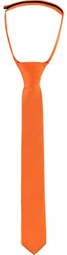 Ladeheid Kinder Jungen Krawatte KJ (31cm x 4cm, Orange)