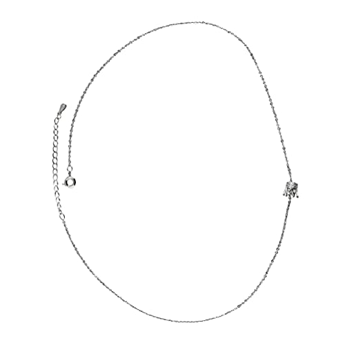 Holibanna Exquisita Cadena de Clavícula Corona Colgante Collar Moda Imitación Diamante Halo Collar Cadenas para Mujer Chica Joyería Regalo Plata