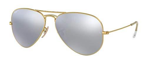 Ray-Ban womens RB3025 Polarized sunglasses, Matte Gold Frame/ Polarized Dark Grey Lens 112/W3, Medium US