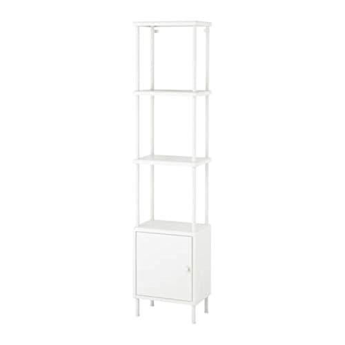 Ikea Dynan Rek Eenheid met Kast Wit 691.833.99 Grootte 15 3/4x10 5/8x68 1/2