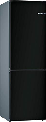 Bosch KVN39IZEA Serie 4 VarioStyle - Frigorífico independiente/E / 203 cm / 238 kWh/año/Puerta frontal intercambiable negro mate / 279 L/parte congelador de 89 L/NoFrost/VitaFresh