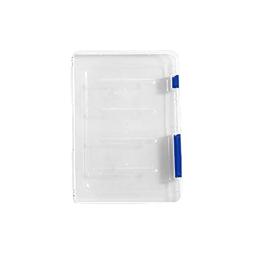 ERUYN Cajas de almacenamiento Contenedores organizadores para el hogar A4 / A5 Caja de almacenamiento transparente Plástico transparente Papel para documentos Estuche para llenar Archivo Plástico Azul