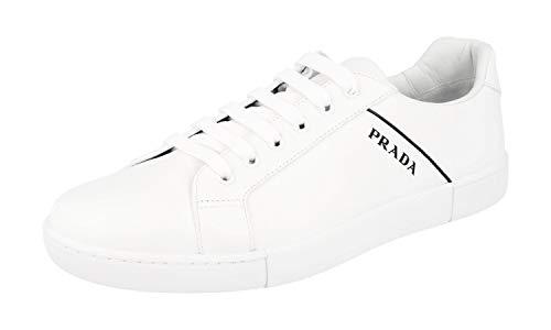 Prada Herren Weiss Leder Sneaker 4E3340 6DT F0009 45.5 EU/UK 11.5