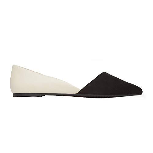 Rohb by Joyce Azria Provence D'Orsay Pointy Toe Flat (Cream) Size 6.5