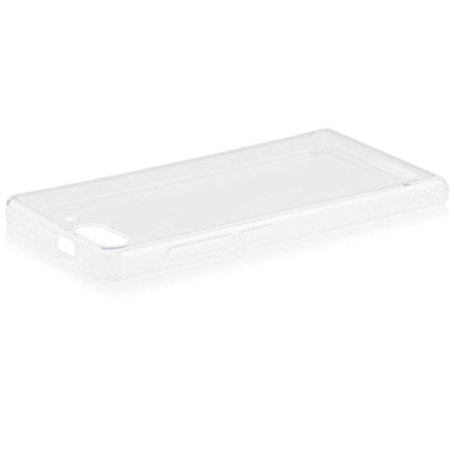 iCues Huawei Ascend P6 MINI | Transparent TPU Hülle Klar | [Bildschirm Schutzfolie Inklusive] Transparent Klarsichthülle Durchsichtig Klare Klarsicht Silikon Gel Schutzhülle Hülle Cover Schutz