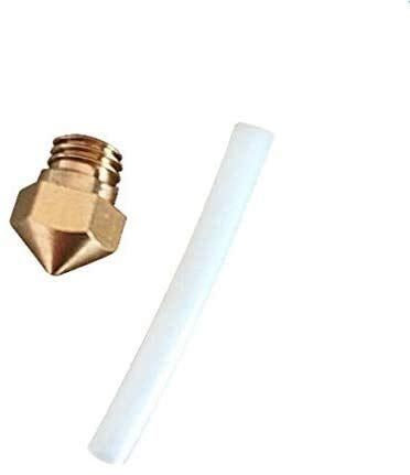 Printer Accessories Replacement MK10 Nozzle Size 0.4mm 1.75mm with PTFE Tube for Wanhao/Flashforge/QIDI Technology 3D printerspare Parts 3D Printing Accessories