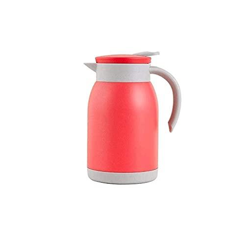 SCRFF Jarra de café de acero inoxidable resistente, 24 horas de retención de calor, café aislado, bebida de agua