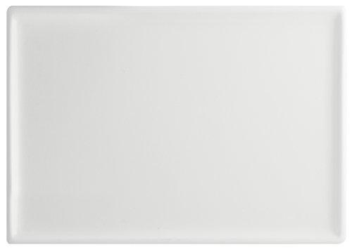 H&H Table Hotelware Plat rectangulaire 26 x 16.5, Porcelaine, Blanc, 26 x 17 x 2 cm