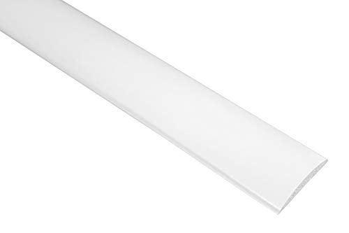 2 M PVC perfil de plástico plana barra lisa cenefa a prueba de golpes 5 x 30 mm, F05