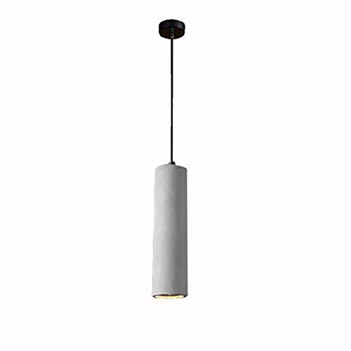 Lámpara colgante de cemento industrial Led creativa durante la lámpara candelabros cilíndricos para mostrador de tienda vitrina de restaurante suave 6x30cm - luz cálida