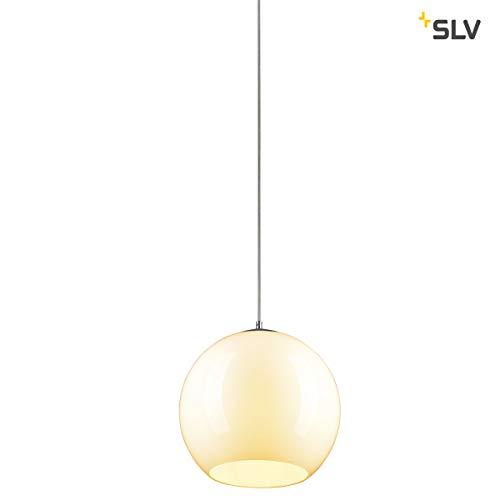 SLV Pendelleuchte Big Sun | Dimmbare Deckenleuchte, Kugelleuchte, LED Hängelampe für Wohnzimmer, Bar, Esszimmer | Runde Decken-Lampe in exklusivem Kugel-Design (E27 Leuchtmittel, EEK E-A++, Ø30cm)