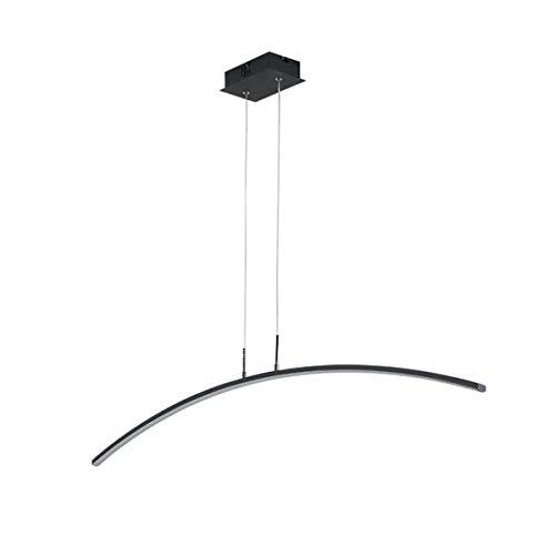LANLANLife Lámparas Colgantes de oscurecimiento LED Negro, lámpara Colgante de lámpara de 24 vatios, for Sala de Estar, Comedor