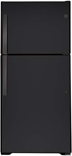 """GE GTS22KMNRDS 33"""" Top Freezer Refrigerator with 21.93 cu. ft. Capacity, LED Lighting, Edge-to-Edge Glass Shelves and Upfront Temperature Controls in Black Slate"""