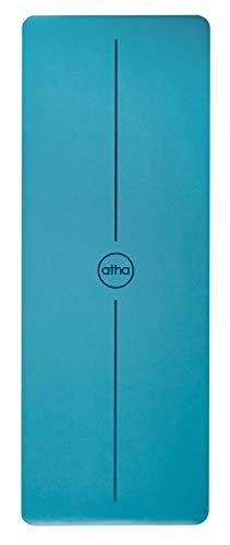 Esterilla de Yoga atha Pro One – Azul (185 x 68 cm/Grosor: 4.2 mm) Esterilla ecológica y 100% Antideslizante