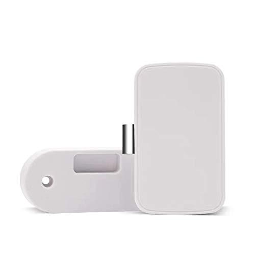 Intelligente BT App Drawer Lock Klebstoff BT Lock Aktenschrank Kleiderschrank Schuhschrank Briefkastenschloss Weiß T1