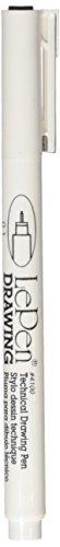 Uchida Le Pen Dessin Technique Pen Open Stock-0.1 mm Noir