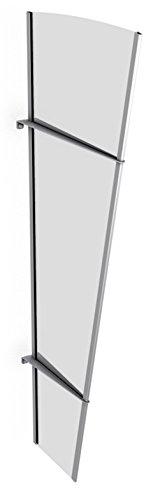 Schulte Seitenelement für Vordach Überdachung Acrylglas klar Edelstahl matt,167x62x32 cm
